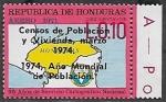 Sellos del Mundo : America : Honduras : Censos de Población y Vivienda, 1974
