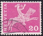 Stamps Switzerland -  cartero a caballo