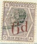 Stamps United Kingdom -  Tipos de 1873 habilitados con nuevo valor