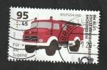 sello : Europa : Alemania : Camión de Bomberos