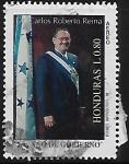 Sellos del Mundo : America : Honduras : Dr. Carlos Roberto Reina. Primer año de gobierno