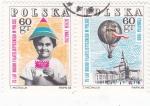 Sellos del Mundo : Europa : Polonia : Niño sosteniendo sello simbólico75 Años de Filatelia en Polonia