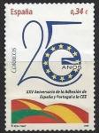 Sellos del Mundo : Europa : España : 4574-25 años ingreso en la UE