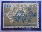 de America - Antillas Neerlandesas -  Países Bajos - Centenario del Sindicato Internacional de Telecomunicaciones (I.T.U.) 1865-1965)-Embl