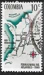 Sellos del Mundo : America : Colombia : Ferrocarril del Atlántico