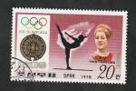 de Asia - Corea del norte -  1501P - Vera Caslavska, gimnasia