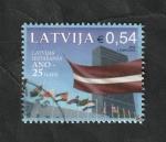 Sellos del Mundo : Europa : Letonia : 963 - 25 Anivº de la entrada en Naciones Unidas