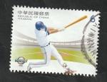 Sellos del Mundo : Asia : Taiwán : 4013 - Beisbol, bateador