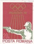 Stamps Romania -  OLIMPIADA MUNICH'72 tiro con pistola