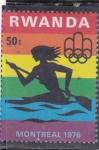 Stamps Rwanda -  OLIMPIADA MONTREAL,76