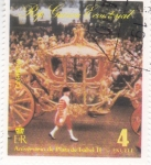 Stamps Equatorial Guinea -  CARROZA REAL- ANIVERSARIO DE PLATA DE ISABEL II