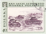 Stamps Poland -  Tanques acercándose a Varsovia, por S.Garwatowski