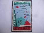 Sellos del Mundo : Europa : Reino_Unido :  Isla Monterrat- Primer Aniversario de CARIFTA 1969 (Asociación de Libre Comercio del Caribe)