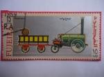 de Asia - Emiratos Árabes Unidos -  FUJEIRA - Emirato de Fujaira - Locomotora de Vapor.