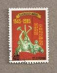 Stamps North Korea -  40 Aniv del Partido de los trabajadores