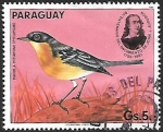 Sellos de America - Paraguay -  aves