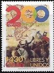 Sellos de America - Chile -  200 años, Libres y Unidos