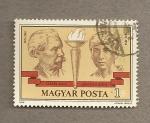 Sellos de Europa - Hungría -  Maestros comunistas durante la republíca soviética 1918-1919
