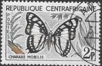 Sellos del Mundo : Africa : Rep_Centroafricana : mariposas