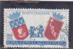 Sellos de Europa - Italia -  Escudos de armas de Roma y los gemelos de París y el lobo