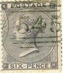 Stamps United Kingdom -  Reina Victoria.Pequeñas letras en los ángulos