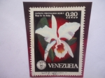 Stamps Venezuela -  Cattleya Percivaliuana RCHB.F-Mayo de lois Andes-Serie:Orquídeas-Sociedad Venezolana de Ciencias Nat