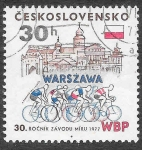 Stamps Czechoslovakia -  2109 - XXX Carrera Internacional de Bicicletas por la Paz