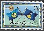 Stamps : America : Saint_Lucia :  25 años de CARICOM