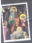 Sellos del Mundo : Europa : Malta : nacimiento RESERVADO