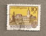 Stamps Hungary -  Edificios de Kiskunfelegyhaza