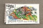 Stamps Hungary -  Campeonatos mundiales modernos de pentatlon