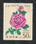 Sellos del Mundo : Asia : Corea_del_norte :  9 - Rosa