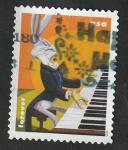 Sellos del Mundo : America : Estados_Unidos :  Bugs Bunny, tocando el piano