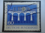 Sellos de Europa - Alemania -  C.E.P.T. - Europa (C.E.P.T.)-25°Aniversario de la Conferencia de Correos y Telecomunicaciones Europe