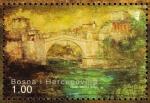 Stamps : Europe : Bosnia_Herzegovina :  Barrio del Puente Viejo en el centro histórico de Mostar