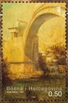 Sellos del Mundo : Europa : Bosnia_Herzegovina : Barrio del Puente Viejo en el centro histórico de Mostar