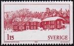 Stamps : Europe : Sweden :  Granjas decoradas de Hälsingland