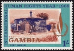 Stamps : Africa : Gambia :  Isla James y sitios anejos