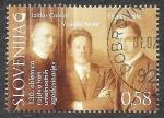 Sellos de Europa - Eslovenia -  Yt999 - 130º Aniversario del Nacimiento de 3 Historiadores del Arte