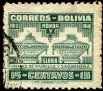 Stamps America - Bolivia -  130 aniversario de la muerte de PEDRO DOMINGO MURILLO. Urnas de Murillo y Sagarnaga.