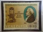 Sellos de America - Venezuela -  Generalísimo Francisco de irManda (1750-1816)-Militar-Politico-15°Aniversario de su Muerte (1816-196