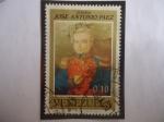 Stamps Venezuela -  Gen.José Antonio Páez (1790-1873)-Cent de su Muerte (1873-1973)-Con Uniforme Militar..