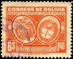 Sellos de America - Bolivia -  Yacuiba 23 de octubre de 1947 entrevista de presidentes E. HERTZOG y J.D. PERÓN.