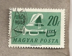 Stamps Hungary -  Casco, sable y trompeta