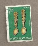 Sellos de Europa - Rumania -  Cucharas de Oltenia
