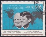 Sellos del Mundo : America : Ecuador : Churchill & Kennedy