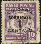 Stamps America - Colombia -  Banco Postal de Colombia Imagen de niños Sobre tasa.