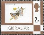 Stamps : Europe : Gibraltar :  mariposas