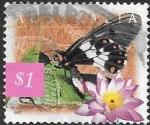 Stamps : Oceania : Australia :  mariposas
