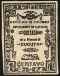 Sellos del Mundo : America : Colombia :  Departamento de Santander. Correos de la Provincia de Cúcuta.